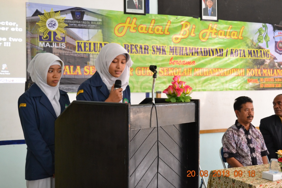 Acara Halal Bihalal Keluarga Besar SMK Muhammadiyah 1 Kota Malang - 20 Agustus 2013
